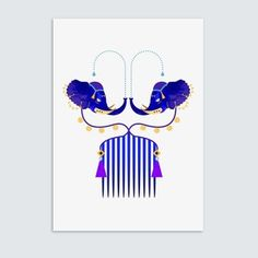 By Eirian Chapman - series of hair combs #illustration