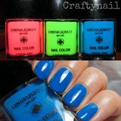 cynthia rowley neon nail polish
