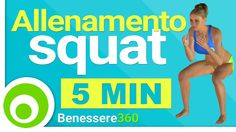 Esercizi Squat per Glutei e Cosce - Allenamento a Casa - 5 Minuti