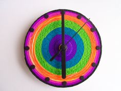 Psychedelic CD Wall Clock polymer clay by FlowertownOriginals, $39.00