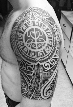Marquesan Half Sleeve Tattoo Design