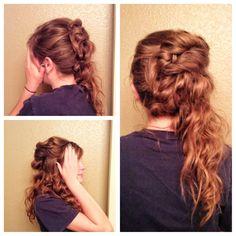 8th grade graduation hairstyle  #hair