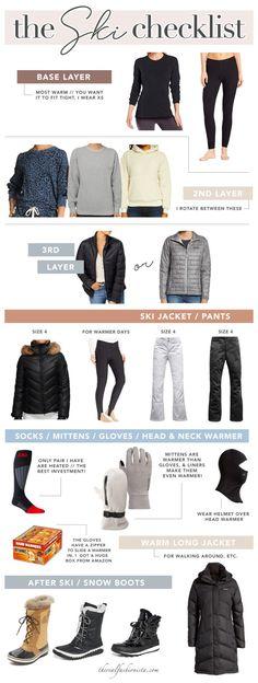 what to wear skiing - womens ski checklist #skiing #winter #parkcity #wintertravel Winter Fashion Boots, Ski Fashion, Winter Outfits, Winter Clothes, Winter Boots, Fashion Tips, What To Wear Snowboarding, Park City, Ski Pants