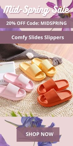 The Comfy Slides Slippers are soft, thick, and comfortable relieving your foot and joint pain. Wear them for 12+ hours without having any discomfort. Anti Chafing, Sore Feet, Take Off Your Shoes, Slip And Fall, Foot Pain, Spring Sale, Walk On, Fashion Shoes, Shoe Boots