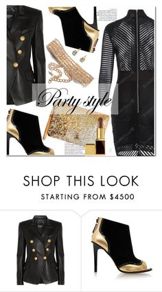 """Party style"" by paculi ❤ liked on Polyvore featuring Balmain, Kat Maconie and Tom Ford"