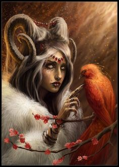 Dream Catcher Fantasy Art by Diane Özdamar, France. Fantasy Women, Dark Fantasy, Digital Portrait, Digital Art, Digital Paintings, Illustrations, Illustration Art, Arte Aries, Aries Art