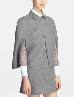 Trending for fall | Valentino wool blend capelet.