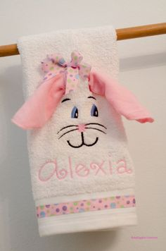 Easter hand towel Personalized hand towel by BabyGigglesCreations, $15.00