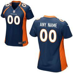 473869653 Women Denver Broncos Nike Navy Blue Custom Game NFL Jersey Nfl Jerseys For  Sale