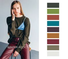 Los colores que se llevarán el OI por The Color Community Colour Pallete, Aw17, Dress For Success, Color Trends, Pantone, 18th, High Waisted Skirt, Chic, Winter