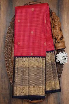 Buy Cerise Pink Zari woven Kanchipuram Silk Saree Online | Samyakk Gadwal Sarees Silk, Cerise Pink, Silk Sarees Online, Two Piece Skirt Set, Skirts, Dresses, Fashion, Vestidos, Moda