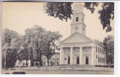 BristolConnecticut CT Vintage Postcard First Congregational Church