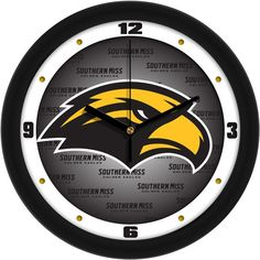 Mens Southern Mississippi Eagles - Dimension Wall Clock