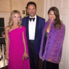 Cameran Eubanks, Whitney Sudler smith, Landon Clements (in purple Dior and Diamonds from Pat Altschul) at Founders Ball on Bravo's Southern Charm