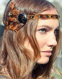 Pheasant Feather Headband by BOHOBOcollective on Etsy. , via Etsy.