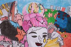 O artista plástico Jackson Santana realiza sua primeira exposição individual na scolinha de Artes do Recife, no bairro de Graças.