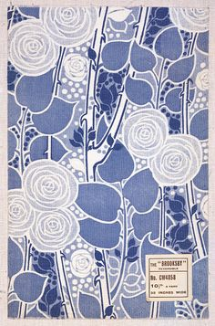 Capture a Liberty Wallpaper: V&A image on a designer roller blind at Creatively Different Blinds. Liberty Wallpaper: V&A blinds from just Motifs Textiles, Textile Patterns, Textile Design, Fabric Design, Print Patterns, Floral Patterns, Liberty Wallpaper, Fabric Wallpaper, Art Nouveau