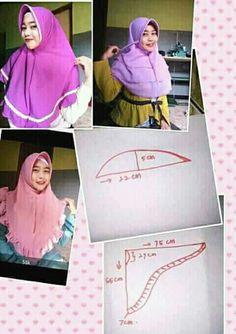 Belajar menjahit - Her Crochet Hijab Style, Hijab Chic, Hijab Dress, Hijab Outfit, Diy Fashion Hijab, Women's Fashion, Caribbean Carnival Costumes, Dress Patterns, Sewing Patterns