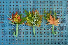 fall foliage boutonnieres