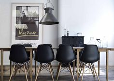 Eames chairs.