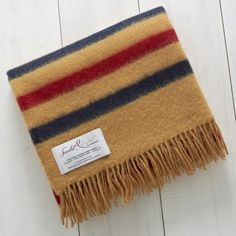 Scarlet and Argent Pure Shetland Wool Throw