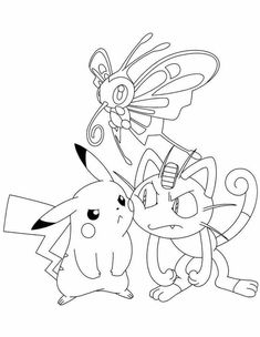 Printable Pokemon Coloring Pages For Your Kids. Pokemon are cute monster characters that are popular among children. Pokemon Coloring Sheets, Pikachu Coloring Page, Cartoon Coloring Pages, Coloring Book Pages, Coloring Pages For Kids, Pokemon Snorlax, Pixel Pokemon, Pokemon Go, Pokemon Printables