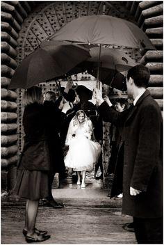 bride in rain #wedding © Iconoclash Photography