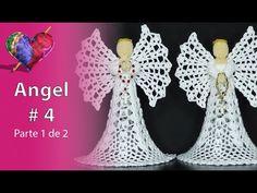 Como Hacer un ANGEL en CROCHET, Paso a Paso (# 4) Parte 1 de 2 - YouTube Crochet Earrings, Youtube, Crochet Sun Hats, Binder, Step By Step, How To Make, Ganchillo, Amigurumi, Navidad