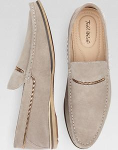 Todd Welsh Ken Taupe Moc Toe Suede Shoes