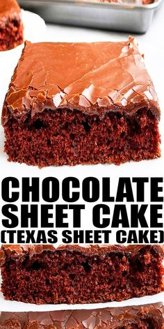 TEXAS SHEET CAKE REICPE- Easy chocolate sheet cake from scratch, homemade with simple ingredients. Soft cake is paired with warm poured chocolate icing or glaze that slightly hardens when set. Made in a jelly roll pan or half sheet pan. From CakeWhiz.com Sheet Cake Recipes, Dump Cake Recipes, Cake Recipes From Scratch, Bakery Recipes, Frosting Recipes, Pie Recipes, Healthy Cake Recipes, Delicious Cake Recipes, Best Dessert Recipes