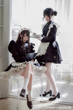 Twitter Maid Cosplay, Asian Cosplay, Cosplay Girls, Maid Outfit, Maid Dress, Cute Asian Girls, Cute Girls, Lolita Fashion, Girl Fashion