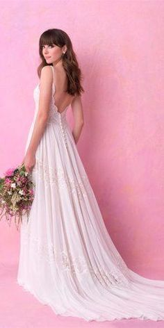 Bohemian Wedding Dress Ideas You Are Looking For ❤︎ Wedding planning ideas & inspiration. Wedding dresses, decor, and lots more. Bohemian Beach Wedding Dress, Western Wedding Dresses, Open Back Wedding Dress, Bridal Dresses, Chic Wedding, Grace Loves Lace, Ball Gowns, Dress Ideas, Wedding Planning