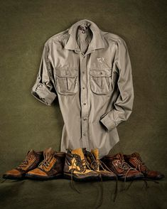 Introducing 'The Courteney Selous Safari Shirt' at Westley Richards Richard Page, Bushcraft Gear, Waxed Cotton Jacket, Safari Shirt, Mens Clothing Styles, Weapons, Military Jacket, Camping, Trends
