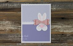 Sherry's Stamped Treasures: Bunny Punch Art - Easter Card
