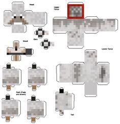 Wolf Tamed Minecraft Papercraft Mania