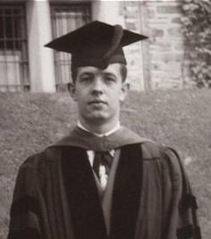 My favorite scholarly graduation photo of a scientist! John Forbes Nash