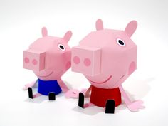 Appy Branding: Peppa Pig Paper Toys by Clooci Creative, via Behance