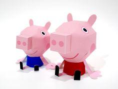 Appy Branding: Peppa Pig Paper Toys by Clooci Studios , via Behance