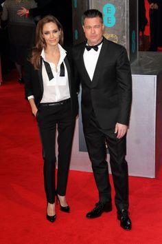 Angelina Jolie's Saint Laurent women's tuxedo for less! ASOS has a tuxedo jumpsuit for only $100
