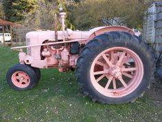 My pink tractor. Love it. 1943 Case before restoration