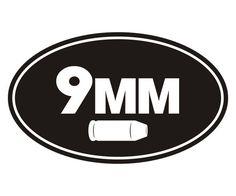"9MM Ammo Can Decal 5"" Ammunition Box Handgun Vinyl Sticker X9S #RottenRemains"