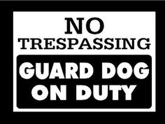 No-Trespassing-Guard-Dog-On-Duty-Metal-Security-Sign-Home-Protection-Wall-Art
