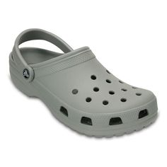Crocs Classic Adult Clogs, Size: M10W12, Light Grey