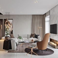 Easily make your living room look and feel more luxurious with these key design principles and ideas Elegant Living Room, My Living Room, Interior Design Living Room, Home And Living, Living Room Designs, Living Room Decor, Living Spaces, Taupe Living Room, Cozy Living
