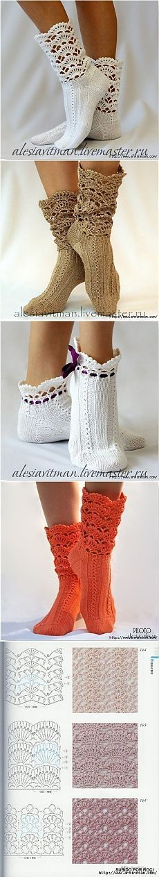Оригинальные носочки » В сети – себя просвети! Knit Shoes, Crochet Shoes, Crochet Slippers, Sock Shoes, Crochet Lace, Crochet Clothes, Knitting Yarn, Knitting Stitches, Patterned Socks