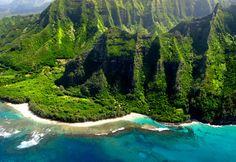 Ke e' Beach on Kauai. The Most beautiful beach in Hawaii
