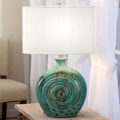 Spiral Ceramic Lamp - Acacia