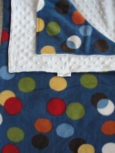 Lottie Dot Minky & Fleece Blanket by GardenofEdenGoods on Etsy, $16.00