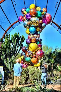Dale Chihuly art installation at The Desert Botanic Garden, Phoenix, AZ