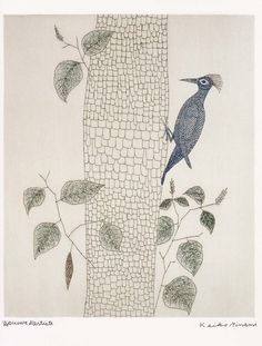 (Japan) by Keiko Minami (1911- 2004). Etching in colors. Japan.